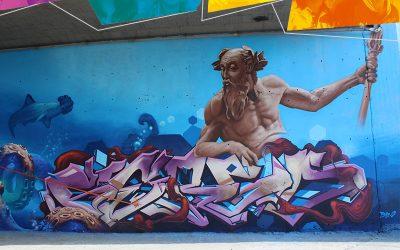 Traen el mar artistas Urbanos en Malecolor